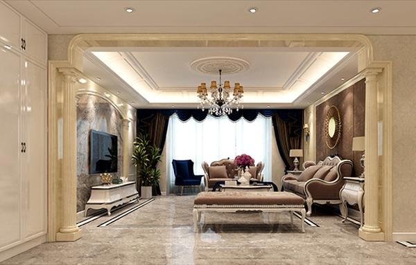 简约欧式风格的装修更注重庄严,优雅;欧式复古的繁复与奢华完美衔接